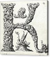 Decorative Letter Type K 1650 Acrylic Print