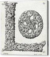 Decorative Letter Type L 1650 Acrylic Print
