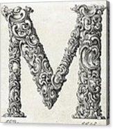 Decorative Letter Type M 1650 Acrylic Print