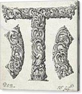 Decorative Letter Type T 1650 Acrylic Print