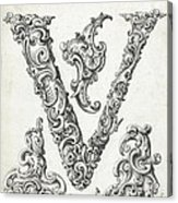 Decorative Letter Type V 1650 Acrylic Print