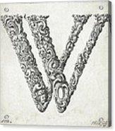 Decorative Letter Type W 1650 Acrylic Print