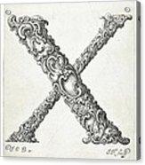 Decorative Letter Type X 1650 Acrylic Print