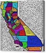 Decorative Map Of California Acrylic Print