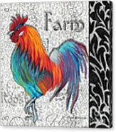 Decorative Rooster Chicken Decorative Art Original Painting King Of The Roost By Megan Duncanson Acrylic Print