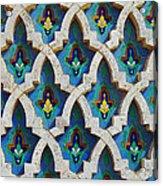 Decorative Tiles On A Mosque Acrylic Print