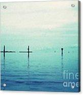 Deep Blue Bay Acrylic Print by Scott Allison