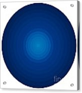 Deep Blue Circles Acrylic Print