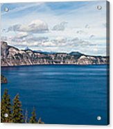 Deep Blue Crater Lake Acrylic Print