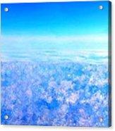 Deep Blue Sky And Clouds Acrylic Print