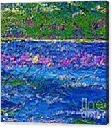Deep Blue Texture Abstract Acrylic Print