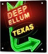 Deep Ellum Red Glow Acrylic Print