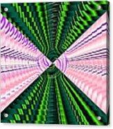 Deep Green And Pink Acrylic Print