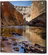 Deep Inside The Grand Canyon Acrylic Print