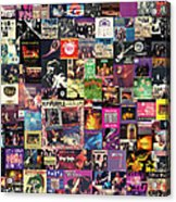 Deep Purple Collage Acrylic Print