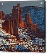 Deep Red In A Sea Of White Acrylic Print