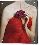 Deep Red Acrylic Print