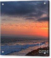 Deep Red Sunset Acrylic Print