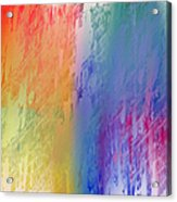 Deep Rich Sherbet Abstract Acrylic Print