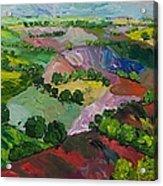 Deep Ridge Red Hill Acrylic Print