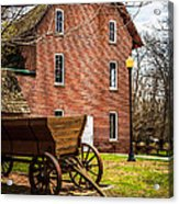 Deep River Wood's Grist Mill And Wagon Acrylic Print by Paul Velgos