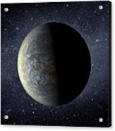 Deep Space Planet Kepler-20f Acrylic Print by Movie Poster Prints