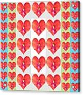 Deeply In Love Cherryhill Flower Petal Based Sweet Heart Pattern Colormania Graphics Acrylic Print