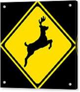 Deer Crossing Sign Acrylic Print