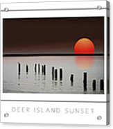 Deer Island Sunset Poster Acrylic Print