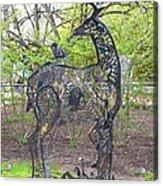 Deer Sculpture Acrylic Print