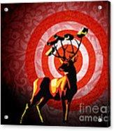 Deer Watch Acrylic Print by Sassan Filsoof