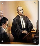 Defence Lawyer Edward Sapiano At Jennifer Pan Trial Acrylic Print