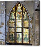 Defiant Stain Glass Church Window #1 Acrylic Print