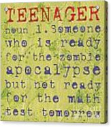 Definition Of Teenagers Acrylic Print
