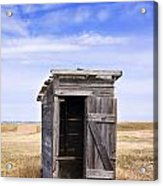 Defunct Outhouse At Rural Elementary School Acrylic Print