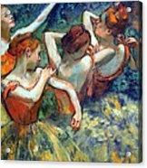 Degas' Four Dancers Up Close Acrylic Print