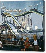 Del Mar Fair At Night Acrylic Print