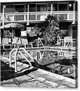 Del Marcos Pool Bw Palm Springs Acrylic Print