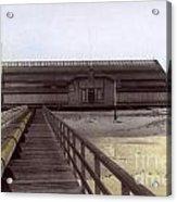 Del Monte Bathhouse From Pier California  Circa 1890 Acrylic Print