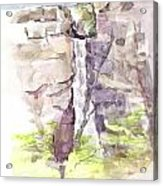 Del Sano Falls Acrylic Print by David  Hawkins
