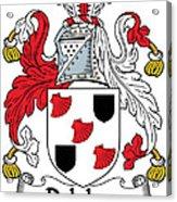 Delahay Coat Of Arms Irish Acrylic Print