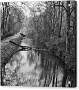 Delaware Canal In Black And White Acrylic Print
