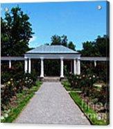 Delaware Park Rose Garden And Pergola Buffalo Ny Oil Painting Effect Acrylic Print