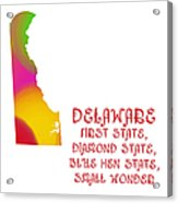 Delaware State Map Collection 2 Acrylic Print