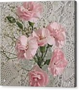 Delicate Pink Flowers Acrylic Print