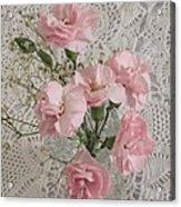 Delicate Pink Flowers Acrylic Print by Good Taste Art