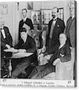 Delegation In London Including  Arthur Acrylic Print