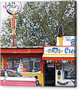 Delgadillo's Snow Cap Drive-in On Route 66 Panoramic Acrylic Print