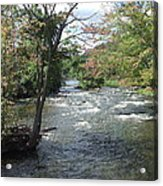 Delhi Rapids From The Bridge Acrylic Print