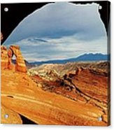 Delicate Arch Framed Acrylic Print
